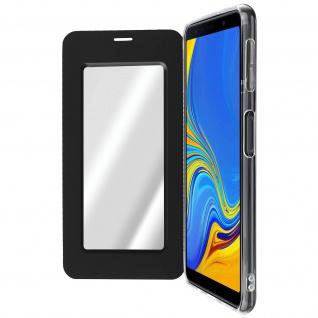 Spiegel Hülle, dünne Klapphülle für Samsung Galaxy A7 2018 - Schwarz