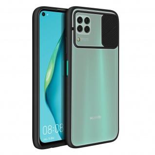 Huawei P40 Lite Handyhülle mit integriertem Kameraschutz ? Schwarz