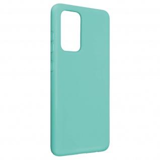 Halbsteife Silikon Handyhülle für Galaxy A52 / A52 5G, Soft Touch ? Türkisblau
