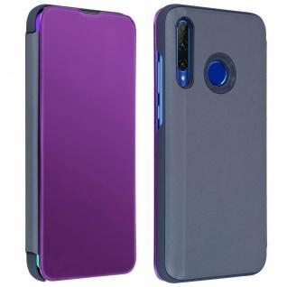 Honor 20 Lite Flip Cover mit Spiegeleffekt & Standfunktion � Violett
