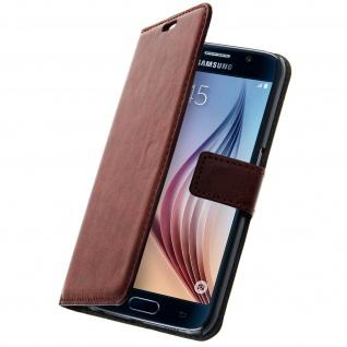 Vintage Flip-Schutzhülle mit Standfunktion für Samsung Galaxy S6 - Braun