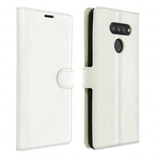 Kunstlederetui, Handyhülle mit Geldbörse für LG K50s - Weiß