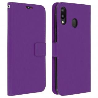Flip Stand Cover Brieftasche & Standfunktion für Samsung Galaxy M20 - Violett