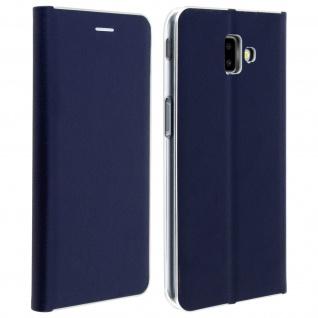 Samsung Galaxy J6 Plus Flip Cover mit Kartenschlitz & Standfunktion - Dunkelblau