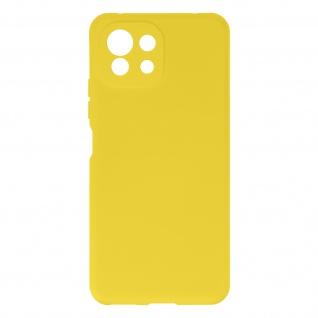 Halbsteife Silikon Handyhülle für Xiaomi Mi 11 Lite, Soft Touch ? Gelb