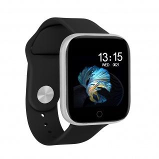 Bluetooth Smartwatch und Fitnesstracker Androit / iOS IP67 Wasserdicht, Schwarz