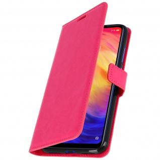 Flip Stand Cover Brieftasche & Standfunktion für Xiaomi Redmi Note 7 - Rosa - Vorschau 2