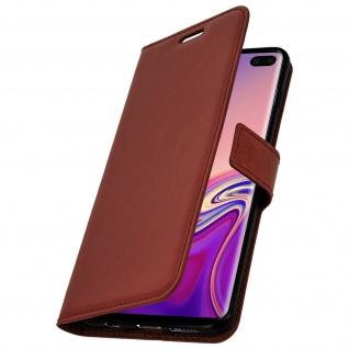 Flip Stand Cover Brieftasche & Standfunktion für Samsung Galaxy S10 Plus - Braun - Vorschau 2