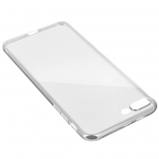 Apple iPhone 7 Plus, 8 Plus transparente Hülle + Glas-Displayschutzfolie