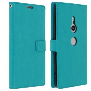 Flip Cover Stand Case Brieftasche & Standfunktion für Sony Xperia XZ2 - Blau