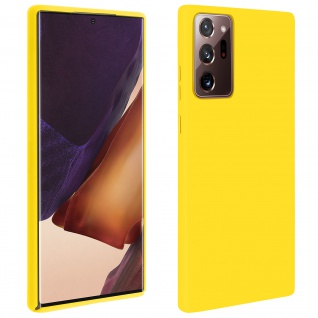 Halbsteife Silikon Handyhülle Samsung Galaxy Note 20 Ultra, Soft Touch - Gelb