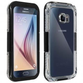 Galaxy S6 wasserfeste Schutzhülle bis zu 6m Tiefe Rundumschutz IP68 - Schwarz