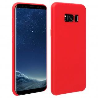 Halbsteife Silikon Handyhülle Samsung Galaxy S8 Plus, Soft Touch - Rot