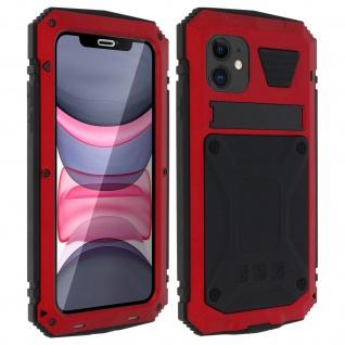 Tank Series Outdoor Hybridhülle, Rundumschutz für Apple iPhone 11 - Rot