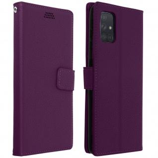 Samsung Galaxy A71 Flip-Cover mit Kartenfächern & Standfunktion - Violett