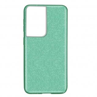 Schutzhülle, Glitter Case Samsung Galaxy S21 Ultra, shiny & girly Hülle â€? Grün