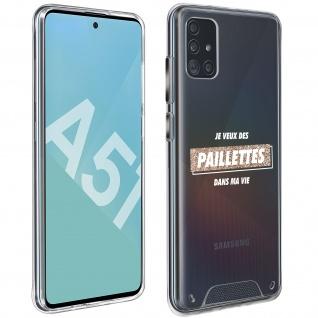 """Handyhülle für Samsung Galaxy A51, Made in France ? """" Paillettes"""" Design"""
