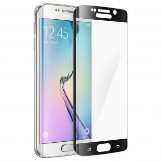Displayschutzfolie Hartglas abgerundete Ecken für Galaxy S6 Edge - Schwarz - Vorschau 3