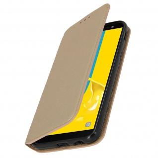 Flip Kunstleder Cover Geldbörse Classic Edition für Samsung Galaxy J6 - Gold