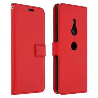 Flip Stand Cover Brieftasche & Standfunktion Sony Xperia XZ3 - Rot