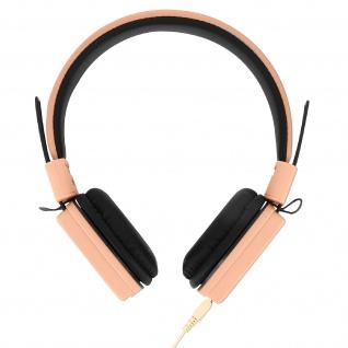 GJ-14 klappbarer kabelgebundener Kopfhörer + 3.5mm Klinkenkabel + Mikro â€? Rosa