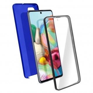 Schutzhülle für Samsung Galaxy A71, Vorder- + Rückseite ? Blau