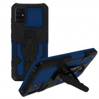 Stoßfeste Handyhülle Samsung Galaxy A51, mit Gürtelclip und Ständer ? Blau - Vorschau 2