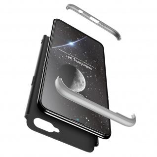 Handyhülle Oppo AX7, Hardcase mit erhöhten Kanten - Schwarz / Silber