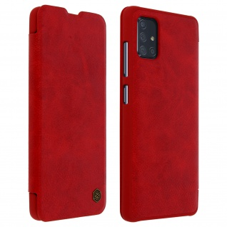 Qin Nillkin Series Leder Cover mit Kartenfach Samsung Galaxy A71 � Rot