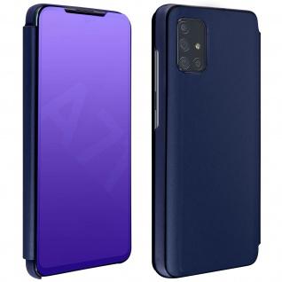 Mirror Klapphülle, Spiegelhülle für Samsung Galaxy A71 - Dunkelblau