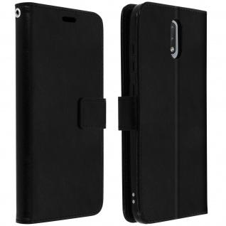Flip Stand Case Brieftasche & Standfunktion für Nokia 2.3 - Schwarz