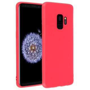 Forcell Samsung Galaxy S9 Soft Touch Silikonhülle, soft case - Rot