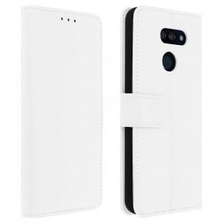 LG K40s Flip-Cover mit Kartenfächern & Standfunktion - Weiß