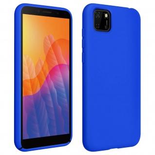 Halbsteife Silikon Handyhülle Huawei Y5p, Soft Touch - Blau