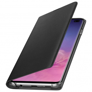 Original Samsung LED-View Cover + Kartenfach Samsung Galaxy S10 Plus - Schwarz 1