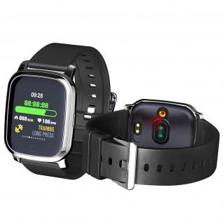 Fitnesstracker, Smartwatch mit Körpertemperaturmessung, Silikonarmband â€? Schwarz