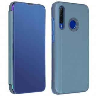 Honor 20 Lite Flip Cover mit Spiegeleffekt & Standfunktion � Blau