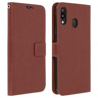 Flip Stand Cover Brieftasche & Standfunktion für Samsung Galaxy M20 - Braun