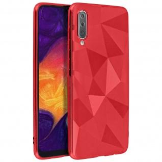 Holographische Handyhülle für Samsung Galaxy A50, Prism Design, Mocca - Rot - Vorschau 2