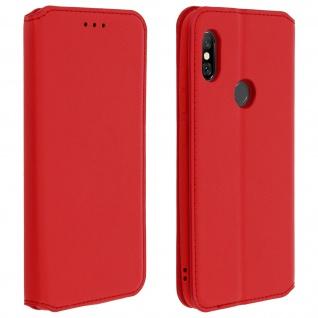 Flip Kunstleder Cover Geldbörse Classic Edition Xiaomi Redmi Note 6 Pro - Rot