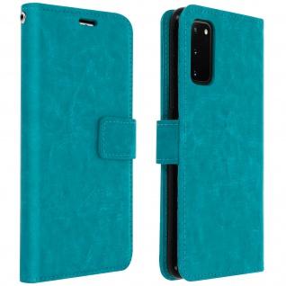 Flip Cover Stand Case Brieftasche & Standfunktion Samsung Galaxy S20 - Blau