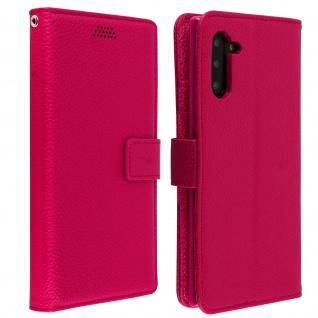 Samsung Galaxy Note 10 Flip-Cover Kartenfächer & Standfunktion â€? Fuchsienrot
