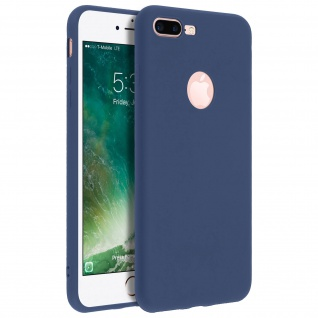 Forcell iPhone 7 Plus/ 8 Plus Soft Touch Silikonhülle, soft case - Dunkelblau