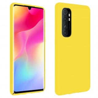 Halbsteife Silikon Handyhülle Xiaomi Mi Note 10 Lite, Soft Touch - Gelb