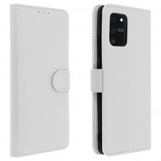 Samsung Galaxy S10 Lite Flip-Cover mit Kartenfächern & Standfunktion - Weiß