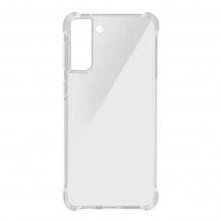Akashi Samsung Galaxy S21 Plus Silikon Bumper Hülle, stoßfest - Transparent