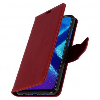 Flip Stand Cover Brieftasche & Standfunktion Huawei Honor 8X - Weinrot - Vorschau 2