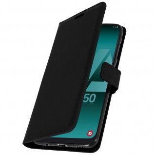 Flip Stand Cover Brieftasche & Standfunktion für Samsung Galaxy A50 - Schwarz - Vorschau 2