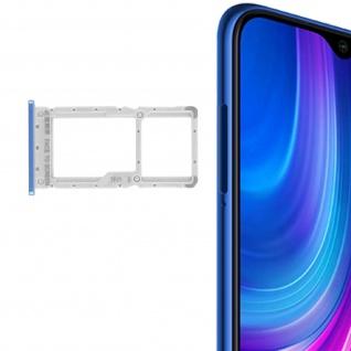 1x SIM + 1x Micro-SD Kartenhalter Ersatzteil für Xiaomi Redmi Note 8 Pro - Blau - Vorschau 2