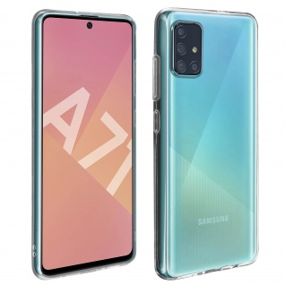 360° Protection Pack für Samsung Galaxy A71: Cover + Displayschutzfolie